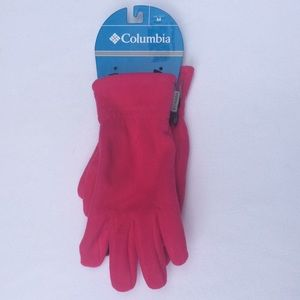 Columbia 1 size M 1 size S pink fleece gloves NWT